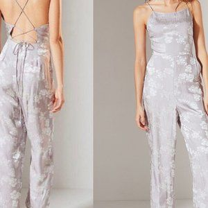 Urban Outfitters Purple Silk Jumpsuit